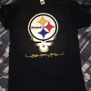 I steel your face Pittsburgh Steelers tee measured